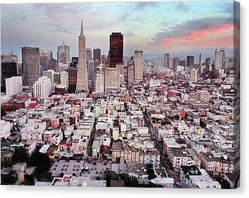 San Francisco Aerial Skyline Canvas Print