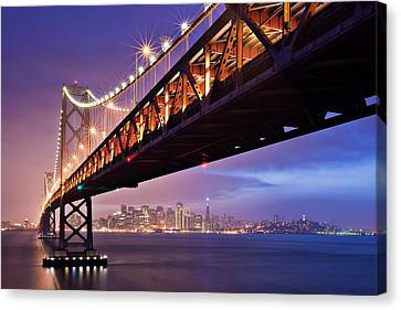 San Francisco Bay Bridge Canvas Print by Photo by Mike Shaw