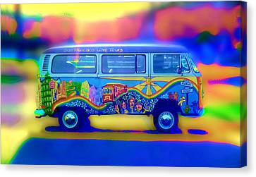 San Francisco Bus Canvas Print by Natalia Shcherbakova
