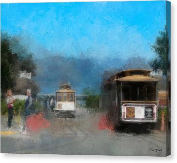 San Francisco Cable Car Canvas Print by Fred Baird