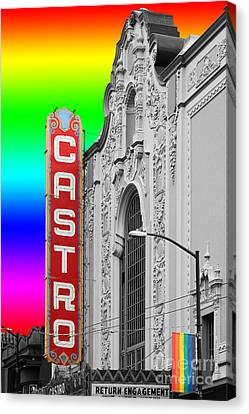 Canvas Print featuring the photograph San Francisco Castro Theater . 7d7579 by Wingsdomain Art and Photography