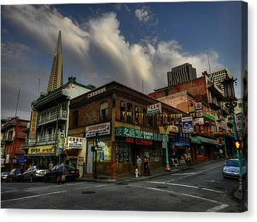 San Francisco - Chinatown 002 Canvas Print by Lance Vaughn