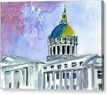 San Francisco City Hall Canvas Print by Tom Simmons