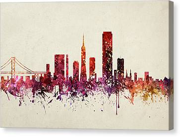 San Francisco Cityscape 09 Canvas Print