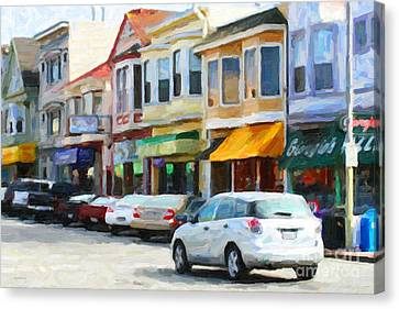 San Francisco Clement Street 2 Canvas Print by Wingsdomain Art and Photography
