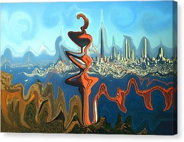 San Francisco Earthquake - Modern Art Canvas Print