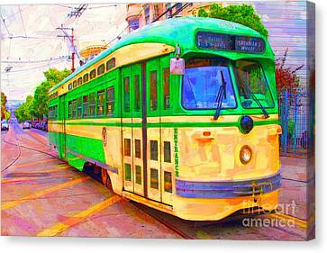 San Francisco F-line Trolley Canvas Print by Wingsdomain Art and Photography