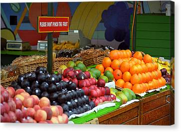 San Francisco Fruit Stand Canvas Print by Frank Romeo
