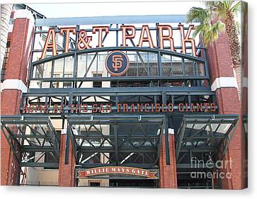 San Francisco Giants Att Park Willie Mays Entrance . 7d7635 Canvas Print by Wingsdomain Art and Photography