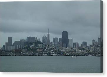 Alcatraz Canvas Print - San Francisco Gray by Gordon Beck