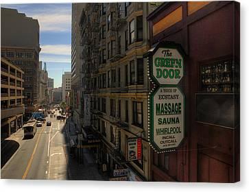 San Francisco Green Door Canvas Print by Rich Beer