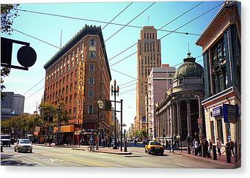 San Francisco Intersection, 2007 Canvas Print by Frank Romeo
