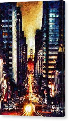 San Francisco Canvas Print by Mo T