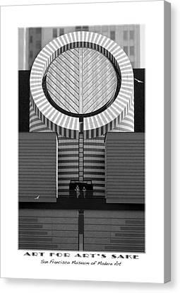 San Francisco Museum Of Modern Art Canvas Print by Mike McGlothlen