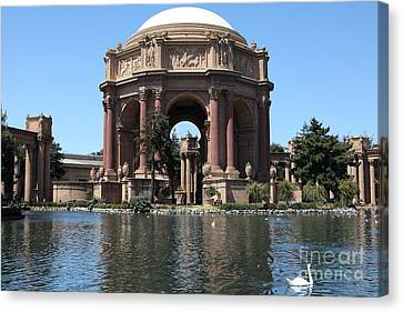 San Francisco Palace Of Fine Arts - 5d18081 Canvas Print by Wingsdomain Art and Photography
