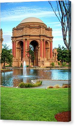 San Francisco Palace Of Fine Arts Canvas Print by Gregory Ballos