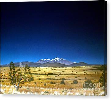 San Francisco Peaks Canvas Print by Jerry Bokowski