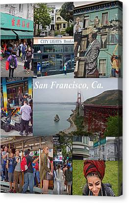 Canvas Print featuring the photograph San Francisco Poster by Joan Reese
