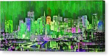 San Francisco Skyline 104 - Pa Canvas Print by Leonardo Digenio