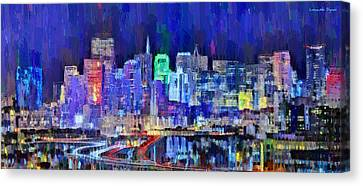 San Francisco Skyline 106 - Da Canvas Print by Leonardo Digenio