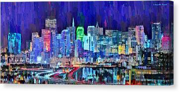 San Francisco Skyline 111 - Da Canvas Print