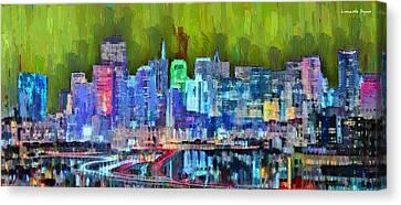 San Francisco Skyline 115 - Pa Canvas Print by Leonardo Digenio