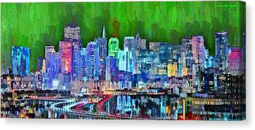 San Francisco Skyline 116 - Da Canvas Print by Leonardo Digenio