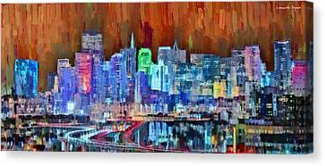 San Francisco Skyline 118 - Pa Canvas Print