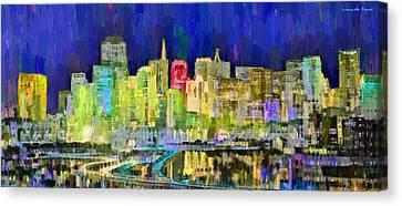 San Francisco Skyline 119 - Da Canvas Print by Leonardo Digenio
