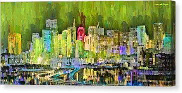 San Francisco Skyline 123 - Da Canvas Print by Leonardo Digenio