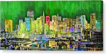 San Francisco Skyline 124 - Da Canvas Print by Leonardo Digenio