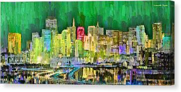 San Francisco Skyline 125 - Pa Canvas Print by Leonardo Digenio