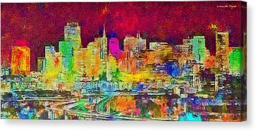 Capital Canvas Print - San Francisco Skyline 139 - Da by Leonardo Digenio