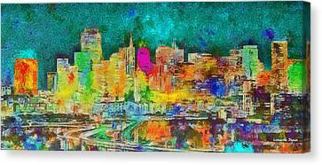 San Francisco Skyline 142 - Da Canvas Print by Leonardo Digenio