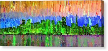 San Francisco Skyline 17 - Da Canvas Print