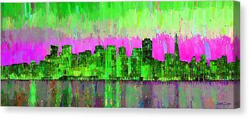 San Francisco Skyline 18 - Pa Canvas Print