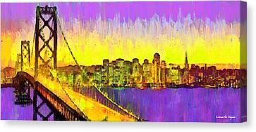 San Francisco Skyline 53 - Pa Canvas Print