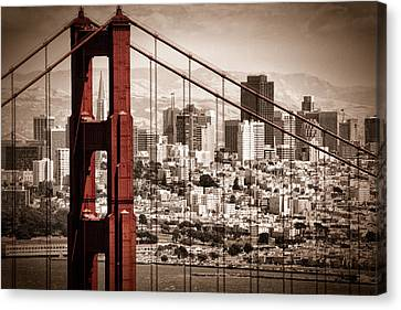 Landscape Canvas Print - San Francisco Through The Bridge by Matt  Trimble