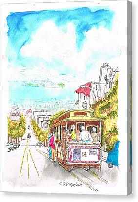 San Francisco Trolley - California Canvas Print