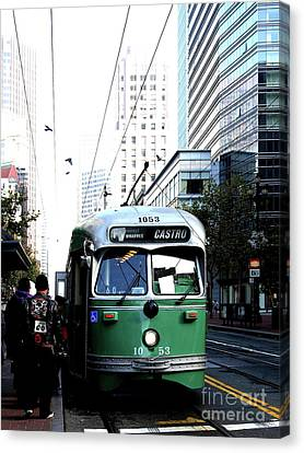 San Francisco Trolley Castro Line . 40d3023 Canvas Print by Wingsdomain Art and Photography