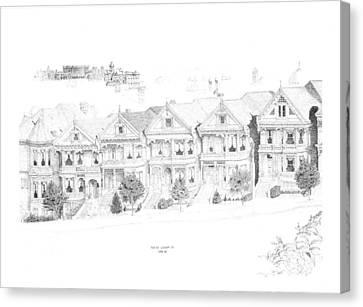 San Francisco Victorians Canvas Print by Edward Williams