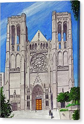 San Francisco's Grace Cathedral Canvas Print by Mike Robles
