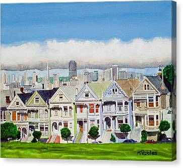San Francisco's Painted Ladies Canvas Print by Mike Robles