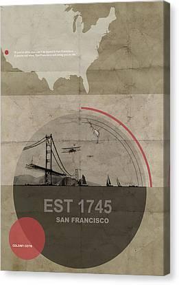 San Fransisco Canvas Print by Naxart Studio