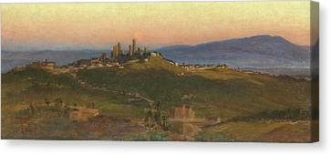 San Gimignano, 1898 Canvas Print by Edith Ridley Corbet