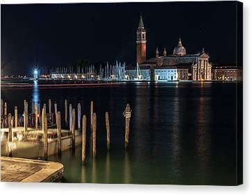 San Giorgio Maggiore. Night In Venice Canvas Print