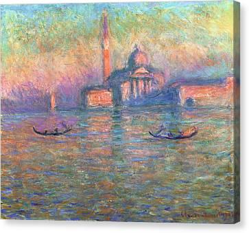 San Giorgio Maggiore Venice Canvas Print by Claude Monet
