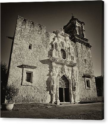 Canvas Print featuring the photograph San Jose Mission - San Antonio by Stephen Stookey
