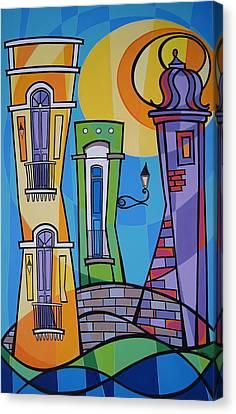Puerto Rico Canvas Print - San Juan Alegre-1 by Mary Tere Perez