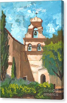 San Juan Bautista Mission Style Canvas Print by Alia Outrey